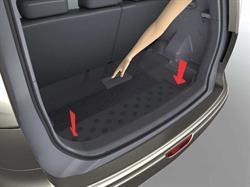 849059U000 Полка багажника NISSAN NOTE (черная)/царапина