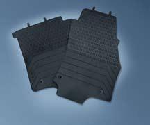 1724058 Коврики салона передние резиновые (к-т 2 шт.), цвет черный