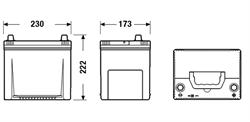 DA654 Аккумулятор DETA SENATOR3 12 V 65 AH 580 A ETN 0(R+) Korean B1 230x170x225mm 16.2kg