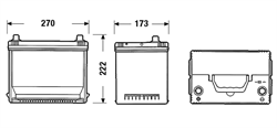 DA755 Аккумулятор DETA SENATOR3 12 V 75 AH 630 A ETN 1(L+) Korean B1 272x170x225mm 18.9kg