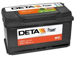 DB802 Аккумулятор DETA POWER 12 V 80 AH 700 A ETN 0(R+) B13 315x175x175mm 19.5kg