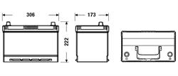 db954 Аккумуляторная батарея DETA 222X306X173 Ток хол. прокрутки 720 A Емкость батареи 95 А/ч