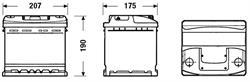 DC440 Аккумулятор DETA STANDARD 12 V 44 AH 360 A ETN 0(R+) B13 207x175x190mm 11.9kg
