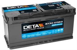 DK1050 Аккумулятор DETA Start&Stop AGM 12V 105AH 950A ETN 0(R+) B13 392x175x190mm 27kg