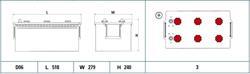 ee2253 Аккумуляторная батарея EXIDE 240X518X279 Ток хол. прокрутки 1150 A Емкость батареи 225 А/ч