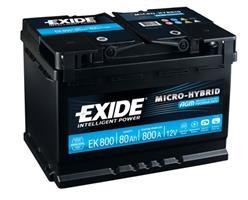 EK800 АКБ AGM 80Ah 800A 315x175x190 (-+)