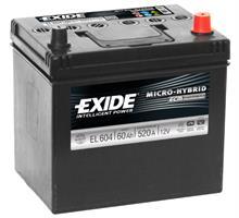 el604 Аккумуляторная батарея EXIDE 222X230X173 Ток хол. прокрутки 520 A Емкость батареи 60 А/ч