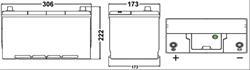 ea1005 Аккумуляторная батарея EXIDE 222X306X173 Ток хол. прокрутки 850 A Емкость батареи 100 А/ч