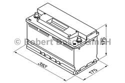 0092S30120 Аккумулятор BOSCH S3 12V 88AH 740A ETN 0(R+) B13 353x175x175mm 20.25kg