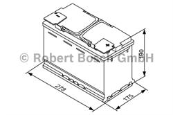 0092s60080 Аккумуляторная батарея Bosch 190X278X175 Ток хол. прокрутки 760 A Емкость батареи 70 А/ч