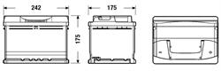 tb602 Аккумуляторная батарея TUDOR 175X242X175 Ток хол. прокрутки 540 A Емкость батареи 60 А/ч