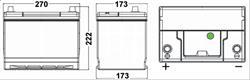 ta755 Аккумуляторная батарея TUDOR 222X270X173 Ток хол. прокрутки 630 A Емкость батареи 75 А/ч