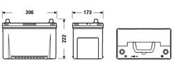 ta954 Аккумуляторная батарея TUDOR 222X306X173 Ток хол. прокрутки 800 A Емкость батареи 95 А/ч