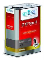 8809059407615 Масло трансмиссионное GT OIL 4л синтетика GT ATF Type III Dexron III